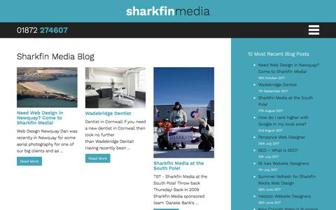 Screenshot of Blog sharkfinmedia.com - Blog - Sharkfin Media - captured Nov. 15, 2017