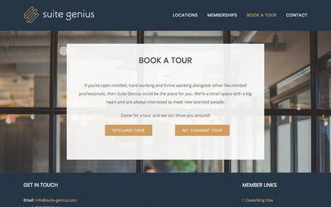 Screenshot of Signup Page suite-genius.com - Join Suite Genius | Coworking Shared Office Space in Vancouver - captured Nov. 10, 2017