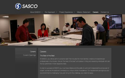 Screenshot of Jobs Page sasco.com - Careers - captured Dec. 21, 2015