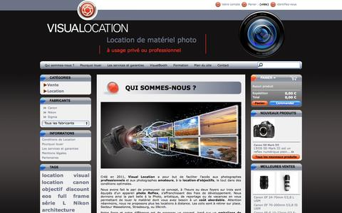Screenshot of Contact Page visual-location.fr - Contact | Location d'objectifs photo Canon, Nikon. Visual Location - captured Oct. 7, 2014