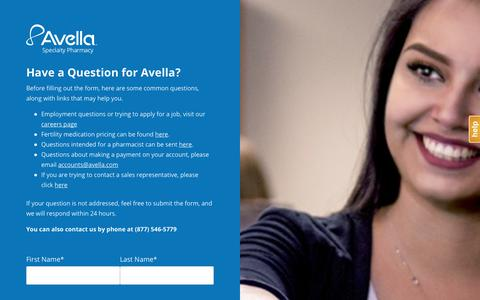 Contact a Specialty Pharmacy | Contact Avella Specialty Pharmacy