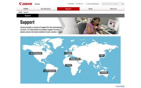 Screenshot of Support Page canon.com - Canon Global : Support - captured Sept. 19, 2014