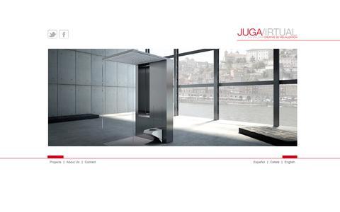 Screenshot of Home Page jugavirtual.com - Juga Virtual - Barcelona Creative 3D Visualization - captured Sept. 30, 2014