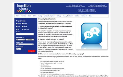 Screenshot of FAQ Page hamiltonchess.co.uk - Hamilton Chess - Frequently Asked Questions - captured Sept. 27, 2014