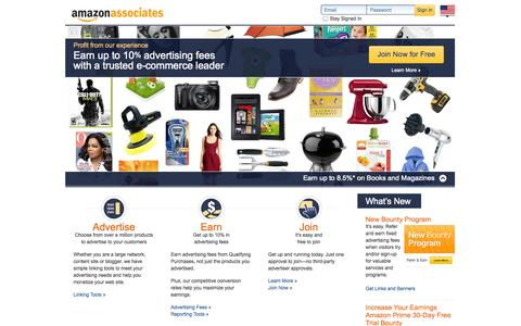 Screenshot of Signup Page amazon.com - Amazon.com Associates:  The web's most popular and successful Affiliate Program - captured Nov. 5, 2014
