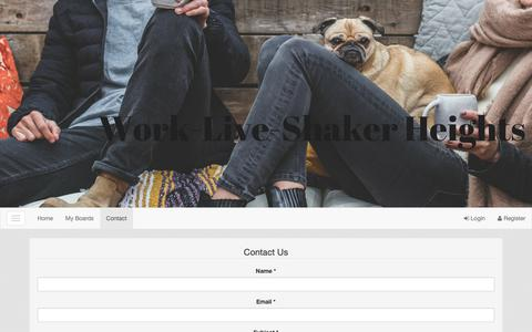 Screenshot of Contact Page work-live-shakerheights.com - work-live-shakerheights.com - captured Sept. 28, 2018