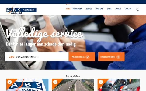 Screenshot of Home Page absamsterdam.nl - ABS Amsterdam - Autoschadeherstel - captured Feb. 4, 2016