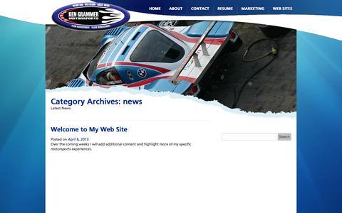 Screenshot of Press Page kengrammer.com - news | Ken Grammer - captured Oct. 1, 2014