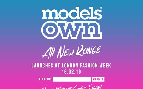 Screenshot of Home Page modelsownit.com - ModelsOwn - All New Range! - captured Feb. 14, 2016