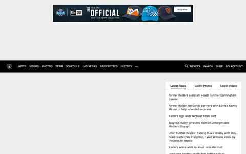 Screenshot of Home Page raiders.com - Raiders.com | The Official Site of the Oakland Raiders - captured May 15, 2019