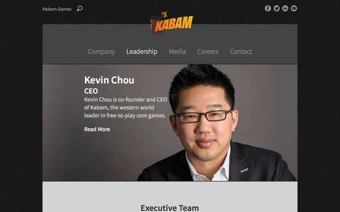 Screenshot of Team Page kabam.com - Leadership - Kabam - captured Sept. 16, 2014