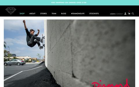 Screenshot of Home Page diamondsupplyco.com - Diamond Supply Co l Official Store - captured Dec. 1, 2015