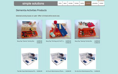 Screenshot of Products Page simplesolution.com.au - Simple Solutions Training and Consulting | products - captured Nov. 30, 2016