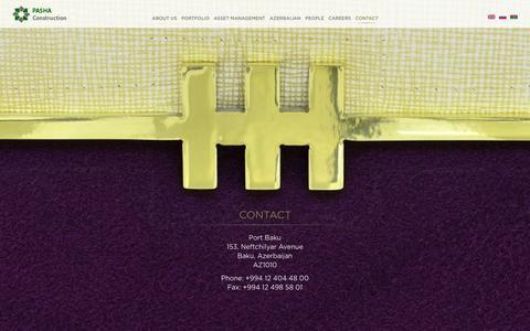 Screenshot of Contact Page pashaconstruction.com - Contact   Pasha Construction - captured Sept. 24, 2014