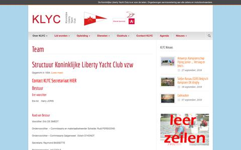 Screenshot of Team Page klyc.be - Team - KLYC - captured Oct. 16, 2018