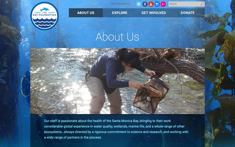 Screenshot of About Page santamonicabay.org - About Us - The Bay Foundation - captured Oct. 2, 2018