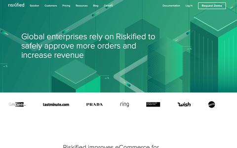 Screenshot of Case Studies Page riskified.com - Riskified Customers | Riskified - captured Feb. 20, 2020