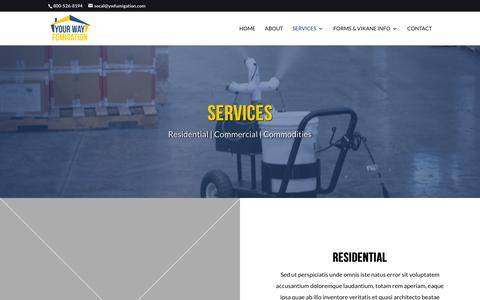 Screenshot of Services Page ywfumigation.com - Services | Your Way Fumigation - captured Nov. 15, 2018