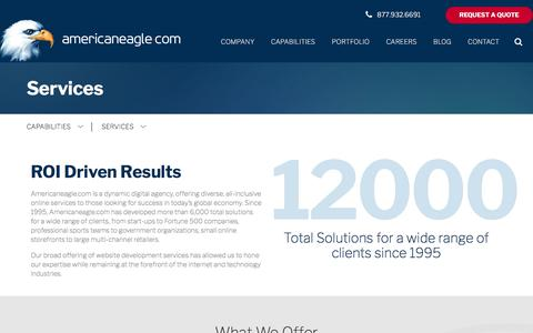 Screenshot of Services Page americaneagle.com - Website Development Services | Americaneagle.com - captured March 1, 2018
