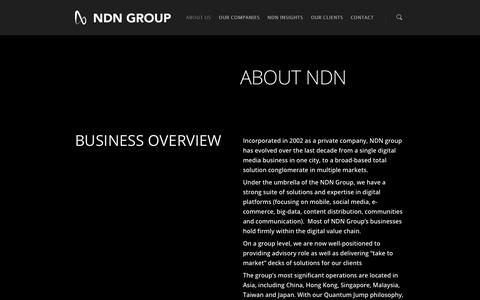 Screenshot of About Page ndn.com.hk - NDN About Us | NDN GROUP - captured Oct. 7, 2014