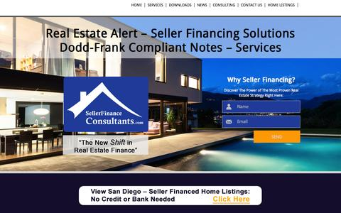 Screenshot of Services Page Press Page sellerfinanceconsultants.com - Seller Finance Consultants - captured Nov. 3, 2014