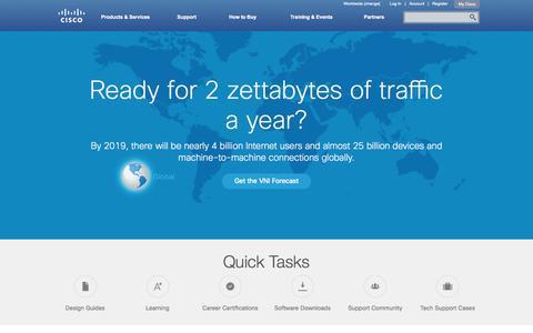 Screenshot of Home Page cisco.com - Cisco Systems, Inc - captured July 3, 2015