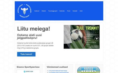 Screenshot of Home Page kuusalukalev.eu - JK Kuusalu Kalev – Kuusalu valla jalgpalliklubi - captured Oct. 1, 2018