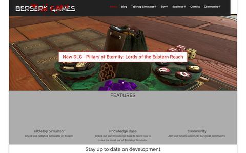 Screenshot of Home Page berserk-games.com captured May 16, 2019