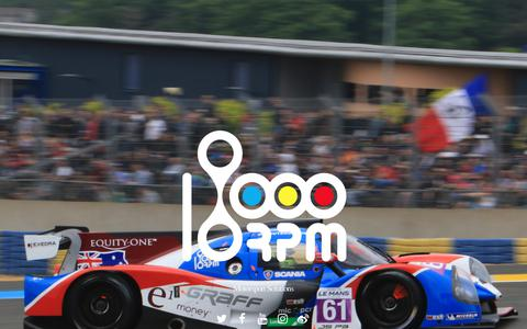 Screenshot of Home Page 18000rpm.com - 18000rpm Motorsports solution - GPS Lap Timer Data Logger - captured June 10, 2017