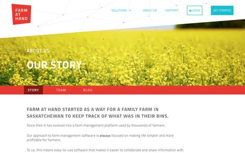 Screenshot of About Page farmathand.com - About Us   Farm at Hand - captured July 13, 2018