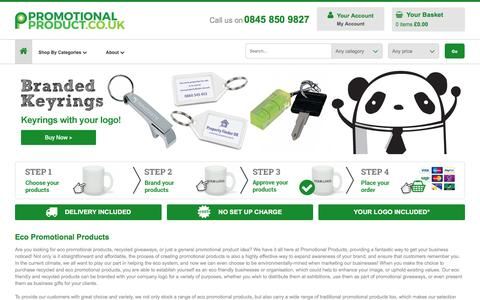 Screenshot of Home Page promotional-product.co.uk - Eco Promotional Products Online | From 40 Group Ltd - captured Jan. 26, 2017