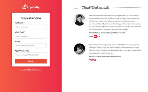 Book a Demo - AppVirality