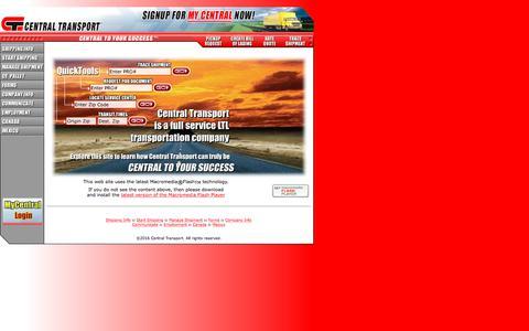 Screenshot of Home Page centraltransportint.com - Central Transport - captured Oct. 23, 2017