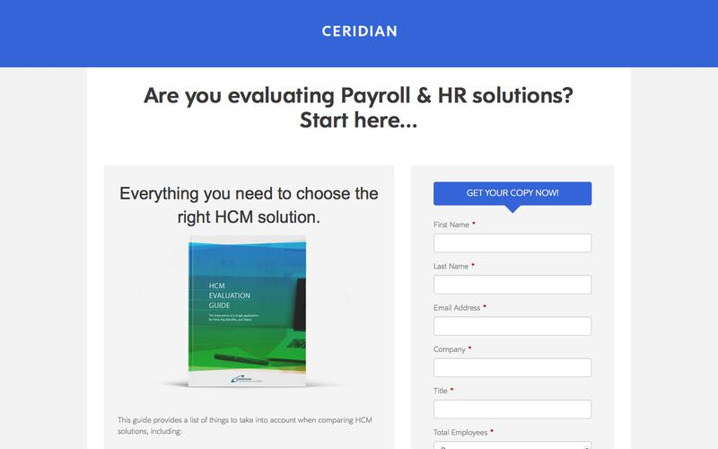 >Are you evaluating Payroll & HR solutions? Start here...