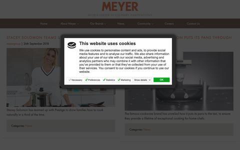Screenshot of Press Page meyergroup.co.uk - Blog - Meyer Group - captured Oct. 18, 2018