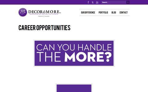 Screenshot of Jobs Page decorandmore.com - Career Opportunities – Decor & More - captured Nov. 3, 2014