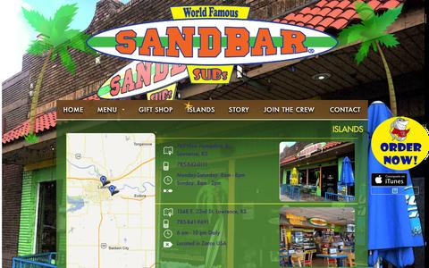 Screenshot of Locations Page sandbarsubs.com - Islands | Sandbar Subs - captured March 8, 2016