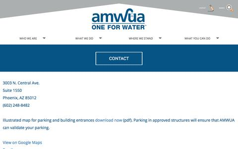 Screenshot of Contact Page amwua.org - Contact AMWUA | AMWUA - captured Oct. 8, 2017