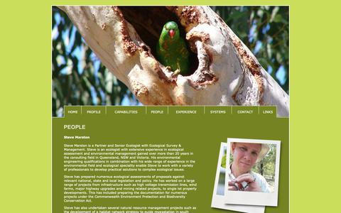Screenshot of Team Page ecosm.com.au - Ecological Survey & Management - captured Nov. 10, 2018
