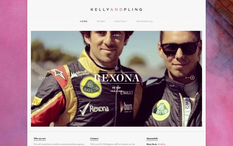 Screenshot of Home Page kellyandpling.com - K E L L Y A N D P L I N G - captured Sept. 30, 2014