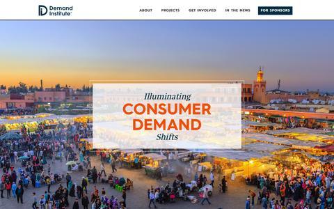 Screenshot of Home Page demandinstitute.org - Illuminating Consumer Demand Shifts : The Demand Institute - captured Aug. 14, 2015