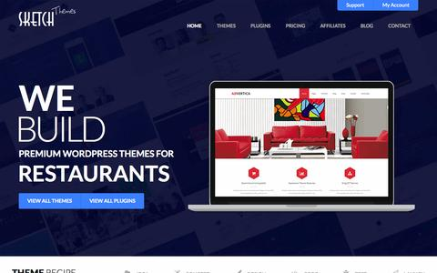 Screenshot of Home Page sketchthemes.com - Premium WordPress Themes & Plugins by SketchThemes - captured Oct. 1, 2015
