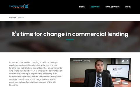 Screenshot of About Page commerciallendingx.com - About Us | CommercialLendingX.com - captured July 20, 2018
