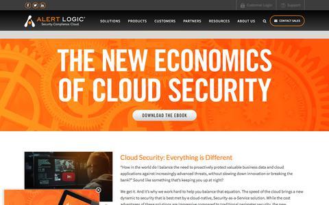 New Economics of Cloud Security | Alert Logic