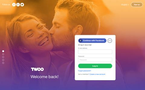 Screenshot of Login Page twoo.com - Twoo - Meet New People - captured Aug. 25, 2016