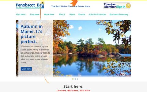 Screenshot of Home Page mainedreamvacation.com - Camden, Maine | Rockland, Maine Chamber of Commerce - captured Oct. 2, 2014