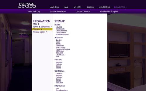 Screenshot of Site Map Page yotel.com - Sitemap - captured Sept. 19, 2014