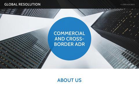 Screenshot of Home Page global-resolution.com - Global Resolution - captured May 19, 2017