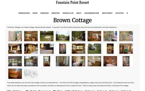Brown Cottage – Fountain Point Resort