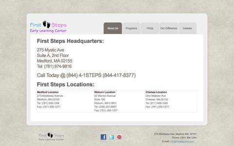 Screenshot of Locations Page firststepselc.com - Locations - captured Oct. 6, 2014
